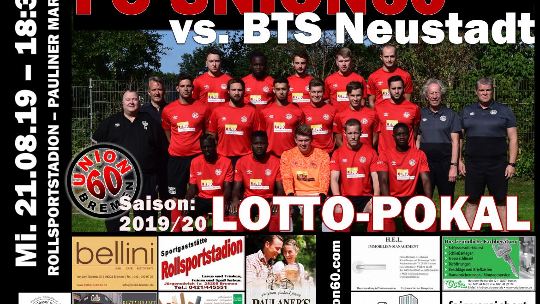 Einzug ins Achtelfinale des Lotto – Pokals gelungen  – Team gewinnt mit 2:1 (0:0) gegen die BTS Neustadt