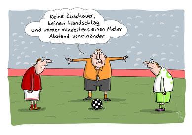 Bis auf Weiteres  rollt kein Ball mehr auf den Bremer Sportanlagen