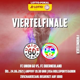 H1 nicht mehr im Pokal vertreten – 0-4 (0:1) – Niederlage gegen den FC Oberneuland