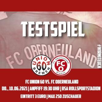H1 testet  gegen den  Regionalligisten FC Oberneuland