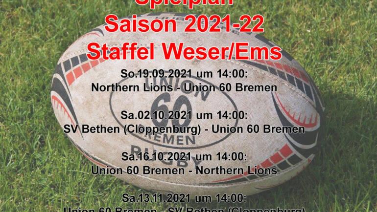 Spielplan der Saison 2021/22