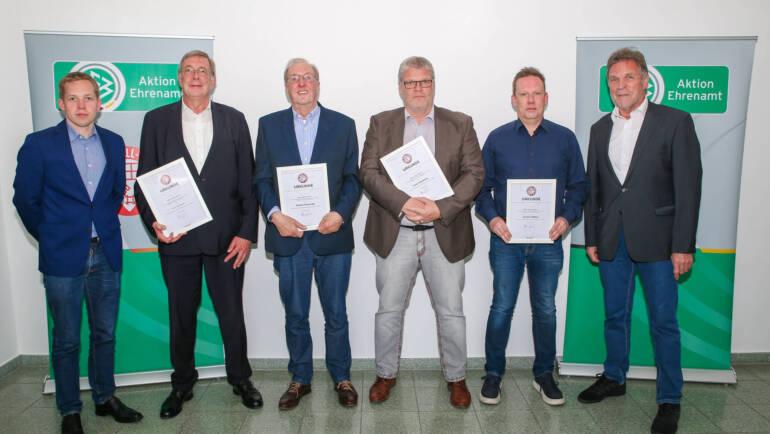 Ehrungen durch den Bremer Fußballverband